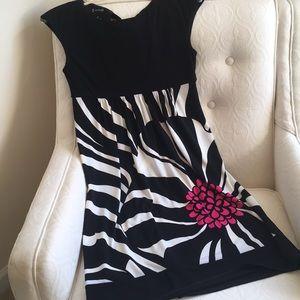 Black and cream Petite dress